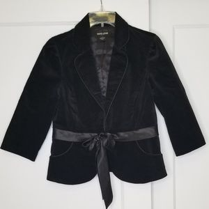Guess Jean's Velvet Blazer with Ribbon Belt